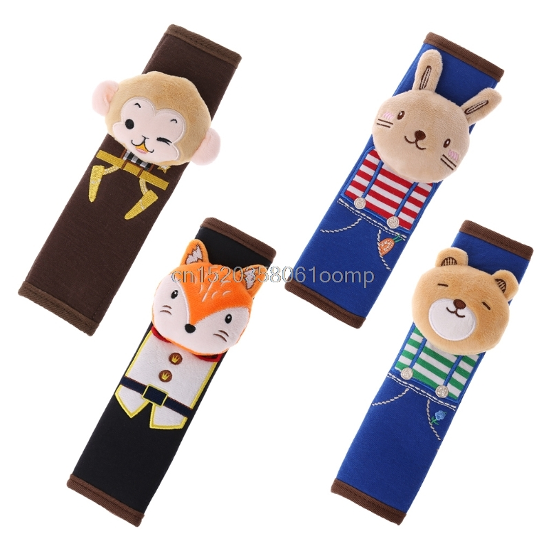 Car Seat Safety Belt Shoulder Pad Baby Cartoon Cover Children Protection Cushion J21 Drop shipping