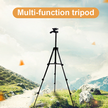 купить PALO Protable Camera Tripod Stand with Rocker Arm for Canon Nikon Sony DSLR Camera Camcorder tripod for phone camera дешево