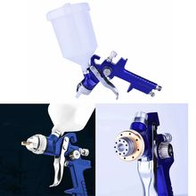 цена на 1.4/1.7mm 600ml Nozzle HVLP Gravity Professional Car High Atomization Pneumatic Paint Primer Spray Gun
