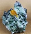 400-500 г Новый найти зеленый желтый фантомный кварцевый кристалл кластер минерал с лечебным действием  образцы