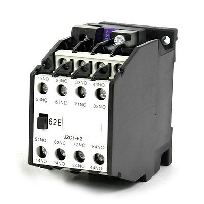 JZC1-62 AC Contactor Type Relay 24V 50Hz Coil Voltage 3-Phase 6NO + 2NC hvdc relay hfe18v 100 750 12 hb4 750vdc high voltage contactor