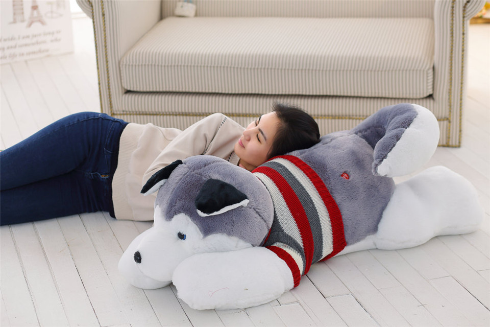 200 cm stuffed toys dog for girls valentine 39 s day present. Black Bedroom Furniture Sets. Home Design Ideas