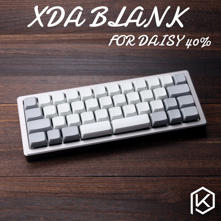 XDA Blank Keycaps Daisy 40% 40 Keyset Blank Similar To DSA For MX Mechanical Keyboard Ergo Filco Leopold Cosair Noppoo Planck