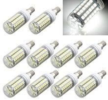 10 x E14 Bombilla Lampara Foco 69 LED 5050 SMD 9W 6500K AC220V Luz Blanco