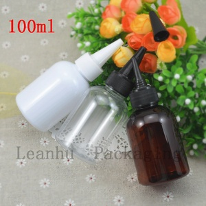 100 ml Mini With White/Brown/Clear Three