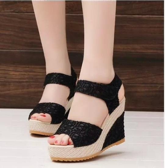 fa294a617444 Women Sandals 2018 Summer New Open Toe Fish Head Fashion platform High Heels  Wedge Sandals female shoes women shoes