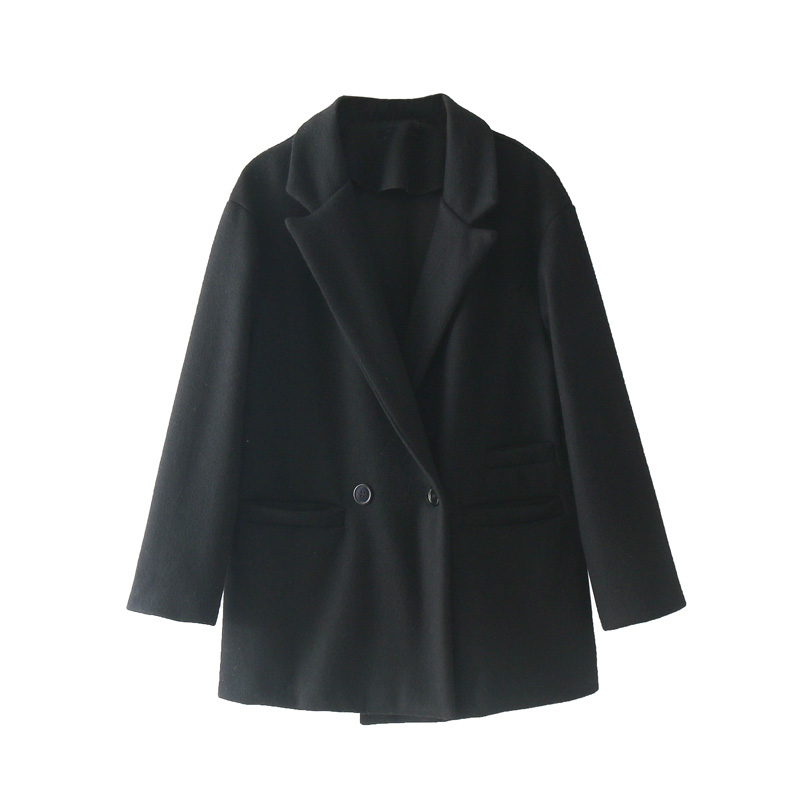 Women Wool Sleeve Blazer Spring Long Feminino Gray Clothing gray 2019 Womens Black Coat Casual UYnxxwR4qC
