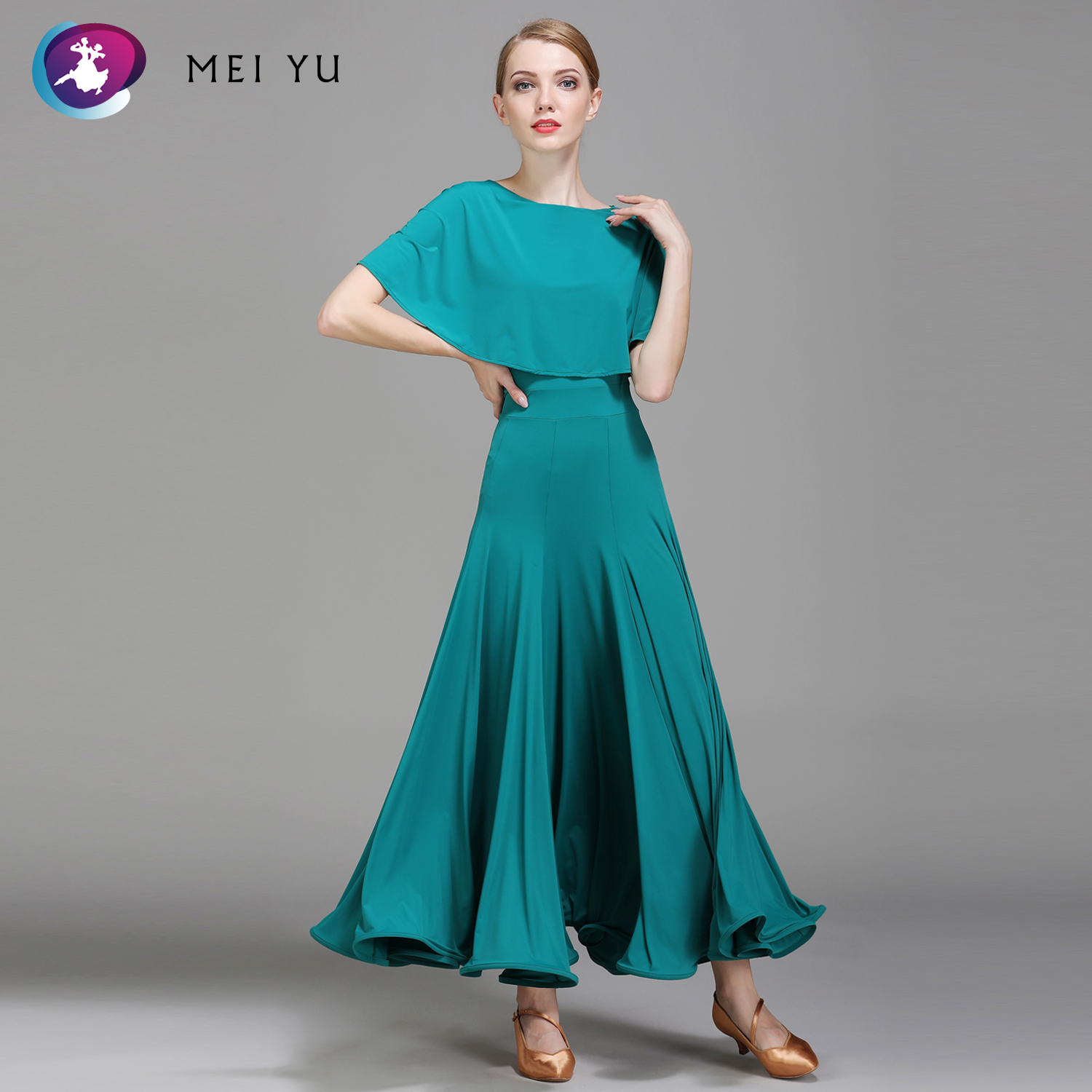 2018 New 1857 Modern Dance Costume Women Lady Adult Waltzing Tango Ballroom Dance Competition Costume Dress Evening Party Dress Novelty & Special Use