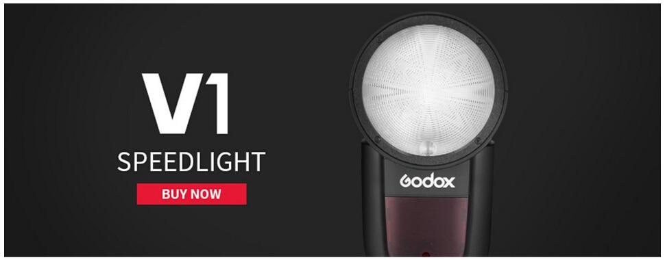 Pre-sell Godox V1 Flash Light V1C V1N V1S Round Head Speedlite Flash TTL  1/8000s HSS Lithium Battery for Sony Canon Nikon Camera