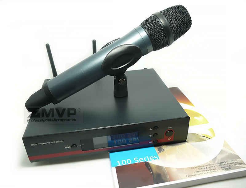 高品質 2 ピース/ロットプロ UHF ワイヤレスマイクワイヤレスシステムハンドヘルドトランスミッターとマイク