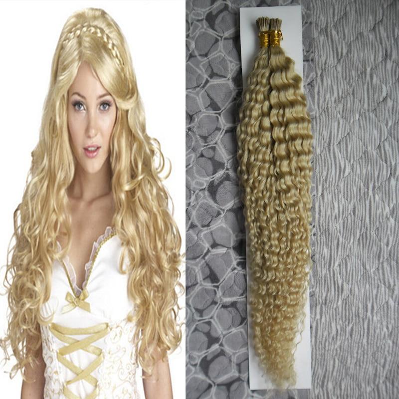 African American Pure Brazilian Keratin Hair Fusion I Tip Hair