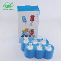 New Arrival Silicone Popsicle Molds 3D Cartoon Ice Cream Mould Kitchen Accessories Random Color