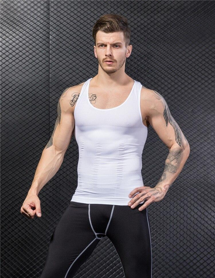 b01eab36b8 2019 Male Abdomen Waist Tummy Trainer Belly Slim Fit Body Shaper ...