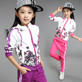Girls Tracksuits Print Clothing Sets Autumn Long Sleeve Children Coats + Pants Suit Kids Sports Outfits Girls Clothes Sets C028
