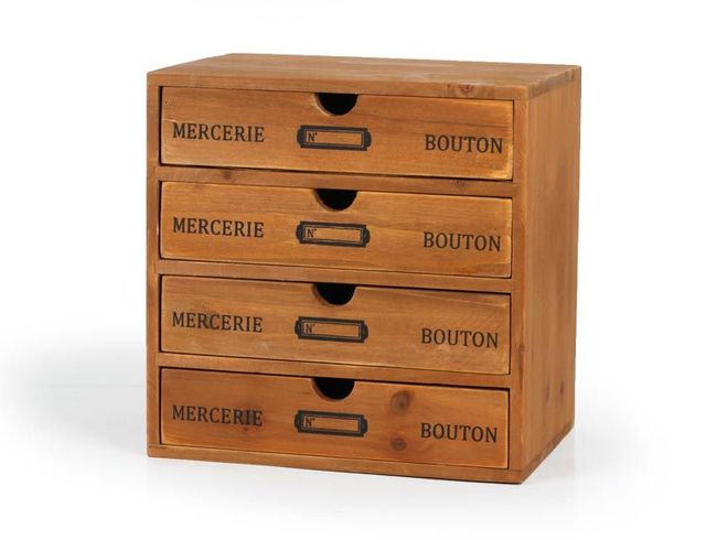 1PC Wooden Retro Home Wood Storage Box Case Container Jewelry Box Decorative  Three Four Drawers Cosmetic