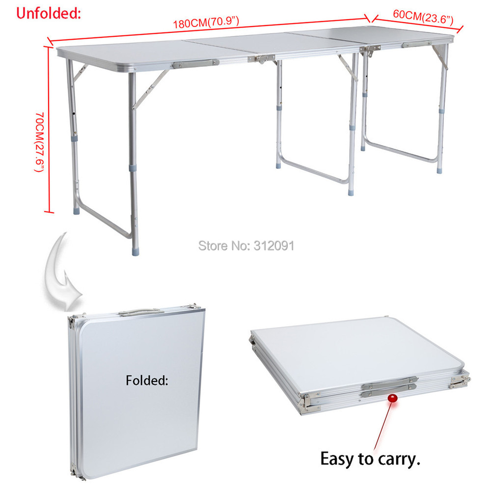 Aliexpress Buy Adjustable 180cm 6ft Aluminum Folding Utility
