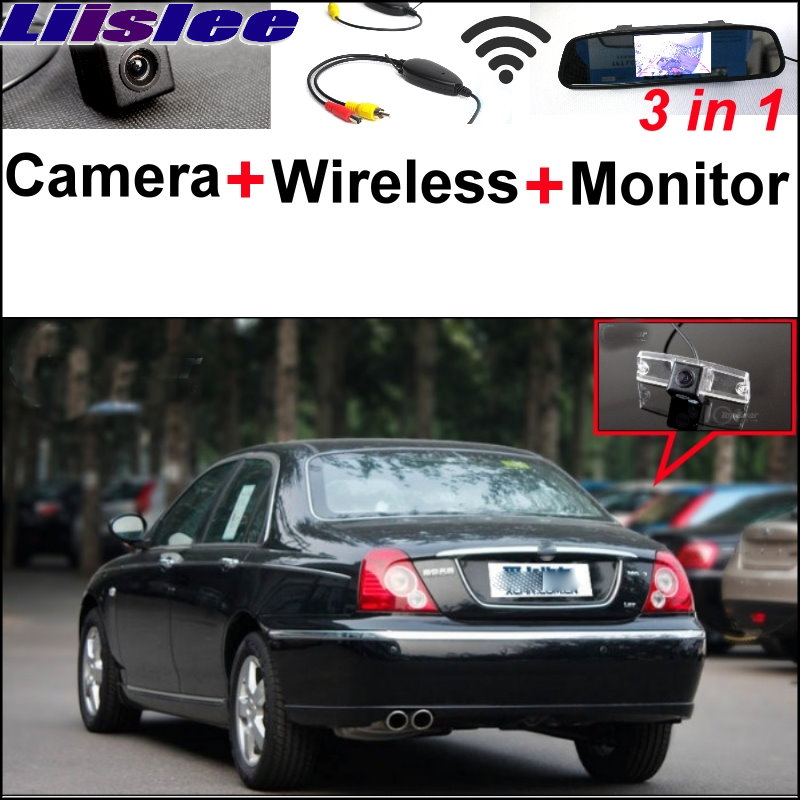Liislee 3 in1 Special Rear View Camera + Wireless Receiver + Mirror Monitor Backup Parking System For Morris Garages MG7 MG 7 wireless pager system 433 92mhz wireless restaurant table buzzer with monitor and watch receiver 3 display 42 call button