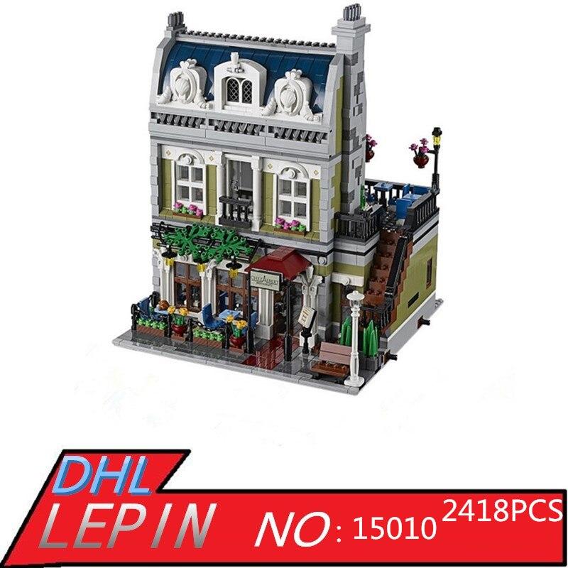 LEPIN 15010 15007 15011 15015 15017 15018 Creator Parisian Restaurant City Street Building Blocks Bricks Toy for Children Gift