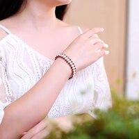 JIUDUO Fashion Women Black Pearl Bracelet 7 8 Mm AAA Quality Natural Freshwater Drop Pearl Jewelry