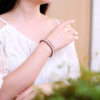 JIUDUO Fashion Women Black Pearl Bracelet 7 8 Mm AAA Quality Natural Freshwater Drop Pearl Jewelry