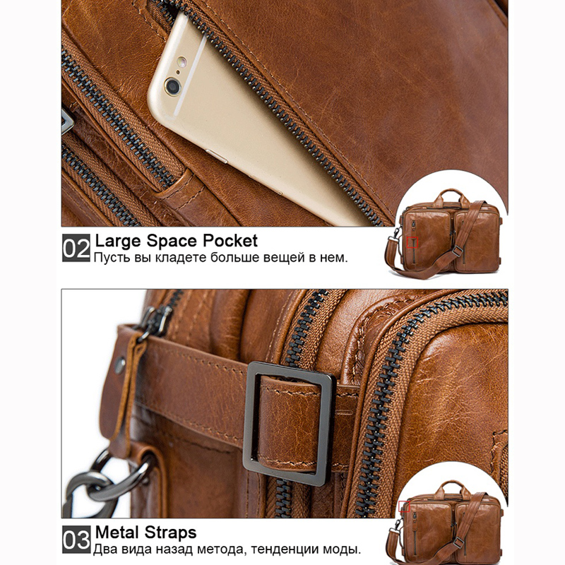 Image 4 - WESTAL Men's Briefcase messenger bag men leather briefcase male laptop bags men's genuine leather bag office bags for men totes-in Briefcases from Luggage & Bags