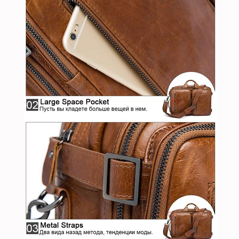 WESTAL мужская сумка натуральная кожа сумка мужская портфель мужской портфель из натуральной кожи портфель кожаный мужской сумку для ноутбука кожаные портфели мужчины сумка через плечо мужская сумочки - 4