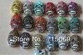 Free Shipping 20pcs 22x14x9mm mixed colors rhinestone white K bottom alloy skull bead pave charm skull jewelry bracelet bead