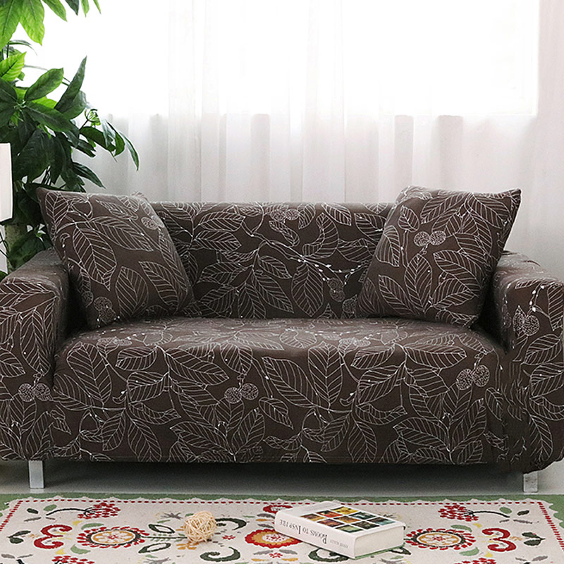 Spandex Slipcovers Sofa Cover Elastic Tight Wrap All inclusive I shaped Sofa Cover Stretch Furniture Covers