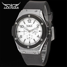 Best Automatic Watches For Men JARGAR Brand Mechanical Watch Stainless Steel Case Rubber Band Three Dial Multifunction Horloges
