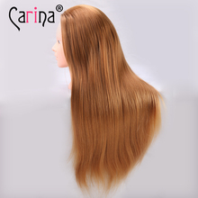 20inch Golden Hair Mannequin Head Practice With Stand Woman Hairstyling Cosmetology Display Wig For Girls