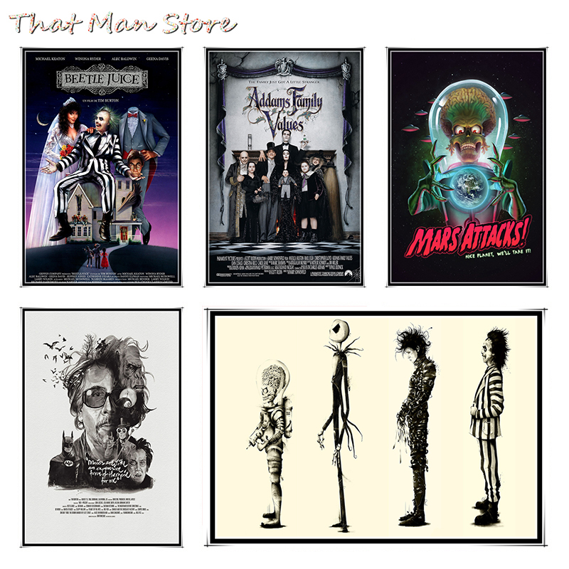 Tim Burton Movie High Definition Posters White Coated Paper Wall Sticker Home Decora  42*30cm