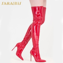 SARAIRIS Dropship Plus Size 33-48 brand Pointed Toe Women Shoes Sexy Thin High Heel Party Shoe woman Winter over the knee Boots