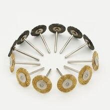 Brosse métallique en laiton, 5 pièces, brosses rondes, disque, Pot, pour deme 25MM P2B4, broyeur, outil électrique rotatif pour graveur