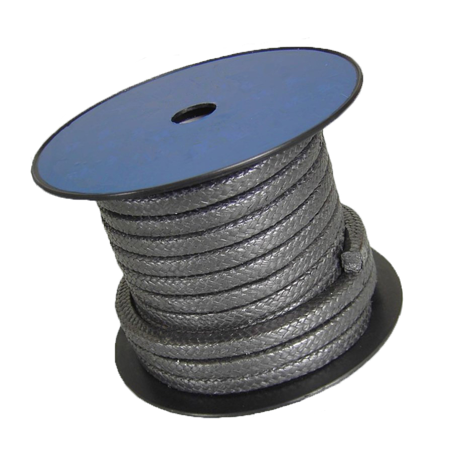 6*6mm A Grade Pure Graphite Packing Steel Wire High Pressure Flexible Graphite Packing Nickel Wire Valve Graphite Sealing Rope