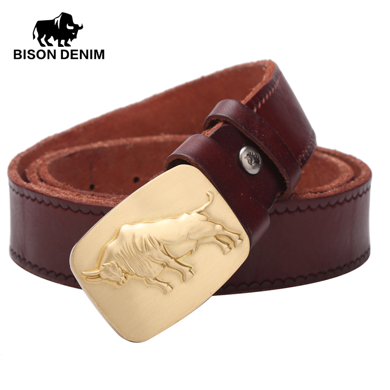 BISON DENIM 2017 Top Layer Genuine Leather Belts