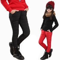 Girls Winter Fashion Casual Sports Trousers Child Long Thicken Warm Cotton Pants Child Clothing Leggings