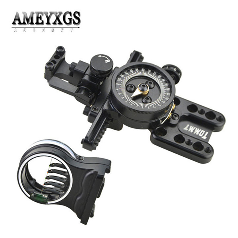1pc Compound Bow Sight Fine Adjustable Pointer 5 pins Sight Shooting Aiming Tool Hunting Sports Archery AccessoriesDarts   -