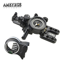 1pc Compound Bow Sight Fine Adjustable Pointer 5 pins Sight Shooting Aiming Tool Hunting Sports Archery Accessories