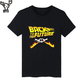 BTS Back to the Future Classic Movie Series Cotton T-shirt Men Hip Hop Short Sleeve TShirts and 4XL Summer T Shirts