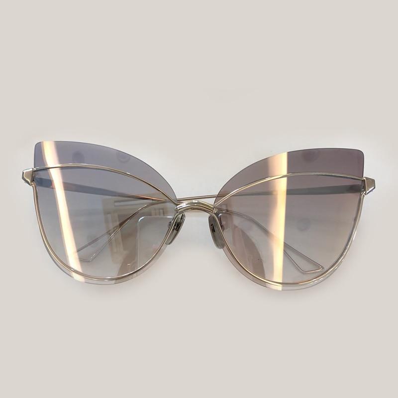 High Quality Women Cat Eye Sunglasses 2019 Fashion Luxury Brand Designer Mirror Sunglasses Oculos De Sol