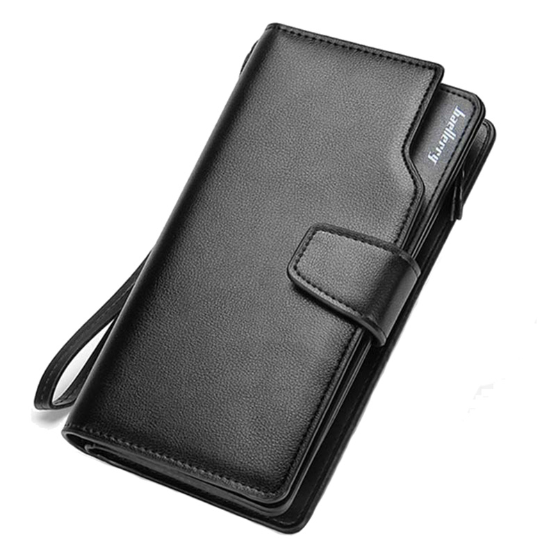 Baellerry Brand Business wallet Clutch Coin pocket zipper purse 3 fold wallet Casual portfolio Phone bag Multi-card bit wallets fashion wallet men short coin pocket with purse multifunction casual clutch bag men high quality multi card bit portfolio wallet