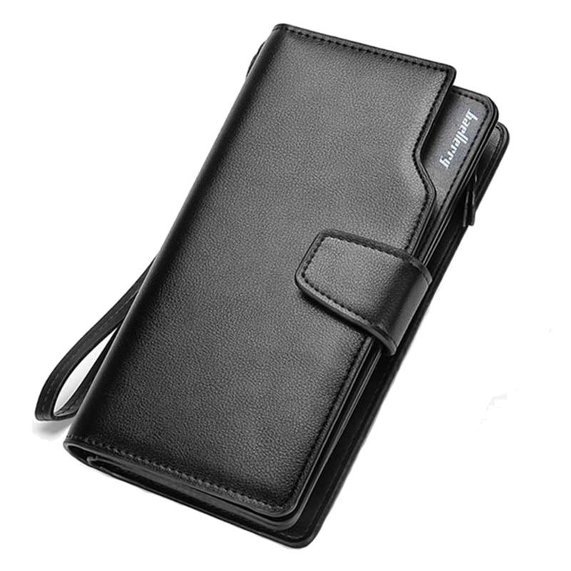 बैलेरी पुरुषों के बटुए व्यापार क्लच सिक्का जेब जिपर पर्स 3 गुना फोन पर्स आकस्मिक पोर्टफोलियो बहु-कार्ड बिट बटुआ नया