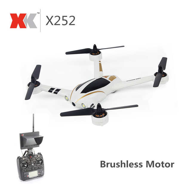 XK X252 5.8G FPV With 720P 140 Wide-Angle HD Camera Brushless Motor 10 Flight Module Highlight Led 7CH 3D 6G RC Quadcopter RTF