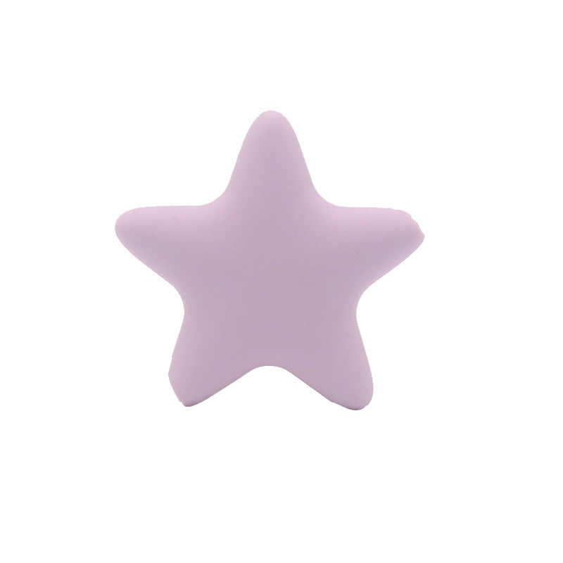 Прорезыватель зубов для новорожденных Бесплатная звезда силиконовая игрушка DIY BPA Аксессуары Для Малышей Мягкая форма