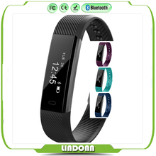 id115 smart wristband bluetooth digital bracelet pedometer fitness tracker for android ios 24h real time heart rate monitor