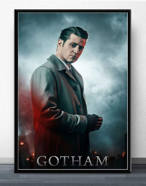 US $5 78 |MX117 Gotham Season 5 Hot 2019 TV Series Jeremiah Valeska  Character Poster Art Silk Light Canvas Home Room Wall Printing Decor-in  Painting &