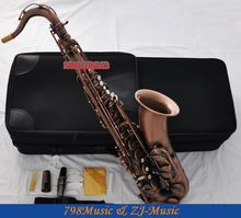Professional Red Antique Tenor Saxophone sax Bb Key High F# saxofon With Case