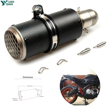 51mm Motorcycle Exhaust Pipe Muffler SC GP Racing Project Exhaust Mufflers Carbon Fiber Exhaust Pipe for Kawasaki triumph buell laser mark motorcycle modified muffler sc carbon fiber exhaust pipe for kawasaki gtr1400 concours h2 h2r monster zx9r