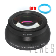 ФОТО professional 67mm 0.45x wide angle lens with macro suit for canon nikon sony camera +with lens wrist strap