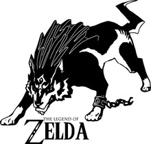 Legend Of Zelda Wolf Link Vinyl Wall Sticker/Wall Art Decal Vinyl Removable Wall stickers For Boys Room Party Home Decor ntag215 nfc card work for zelda legend heart wolf link fierce deity